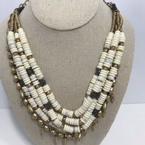 Stella dot cream stone reversible necklace